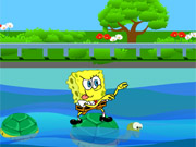 SpongeBob Cross The River